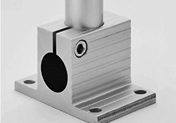 Floor (or table) mounting plate for tube Diam. 30 mm
