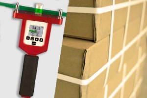 Tensiometer dedicated to packaging straps tension measurement